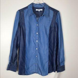 NWT Foxcroft Tencel Button Front Shirt Size 12